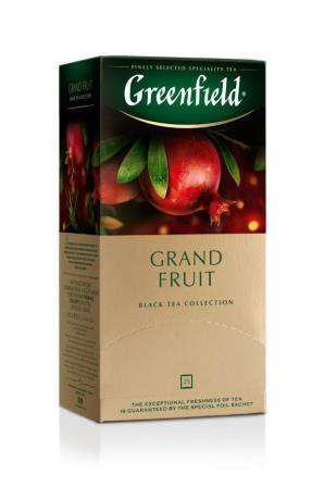 Tee Greenfield herbal Grand Fruit, Inhalt: 25 Aufgussbeutel à 1,5g. (Grundpreis 4,77€/100g)